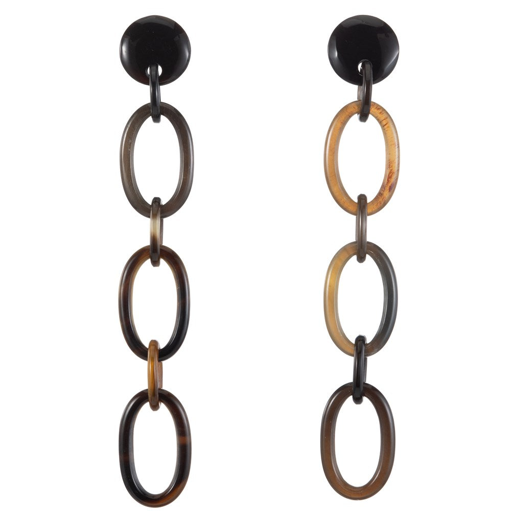Buffalo Horn Link Earring On Post-Vivo Direct