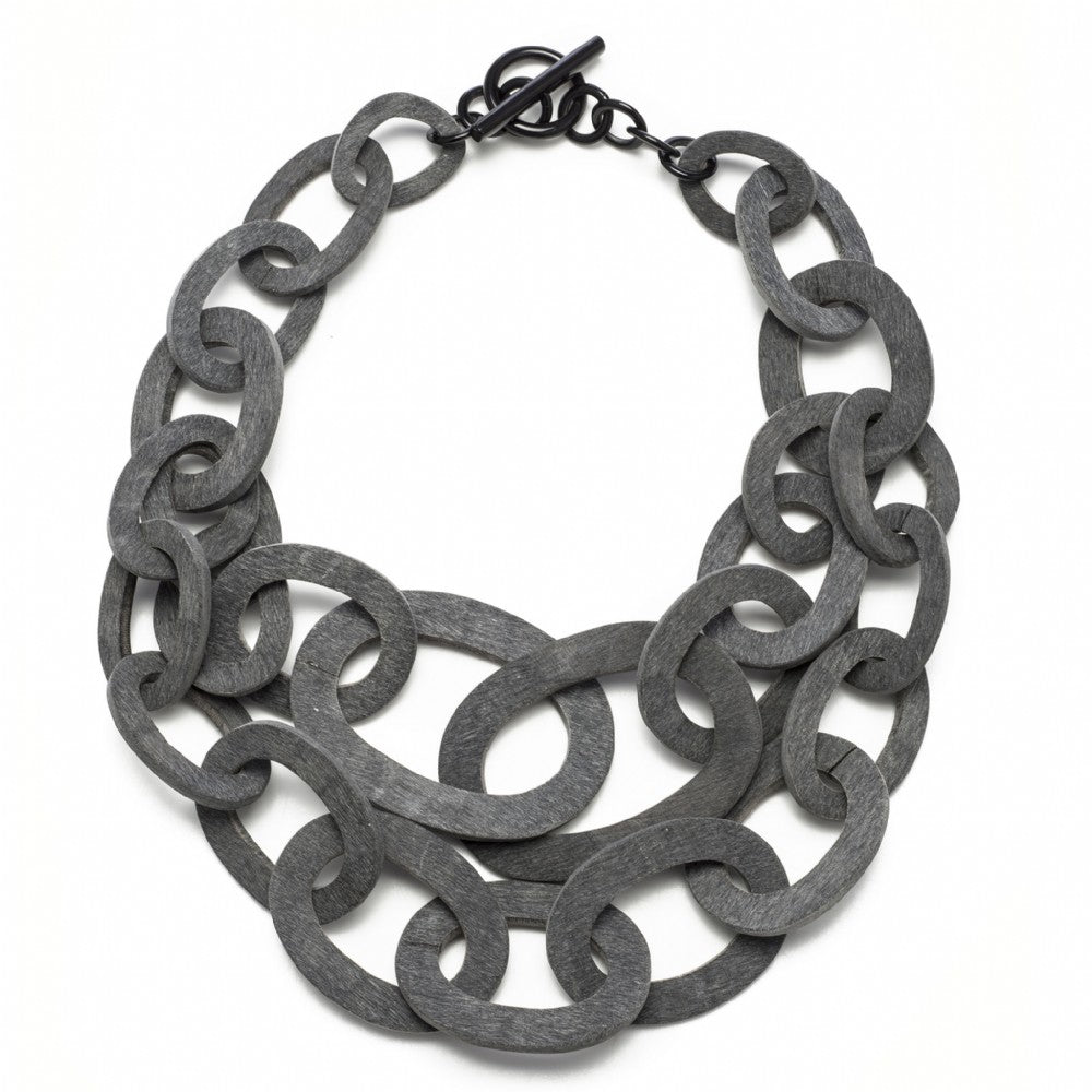 Matt Black Buffalo Horn Necklace