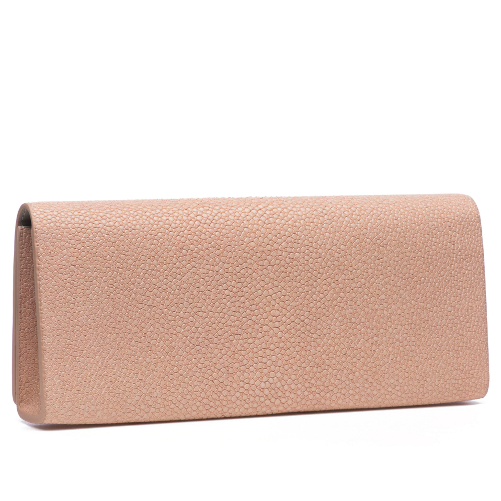 Blush Shagreen Clutch Bag Back View Cleo - Vivo Direct