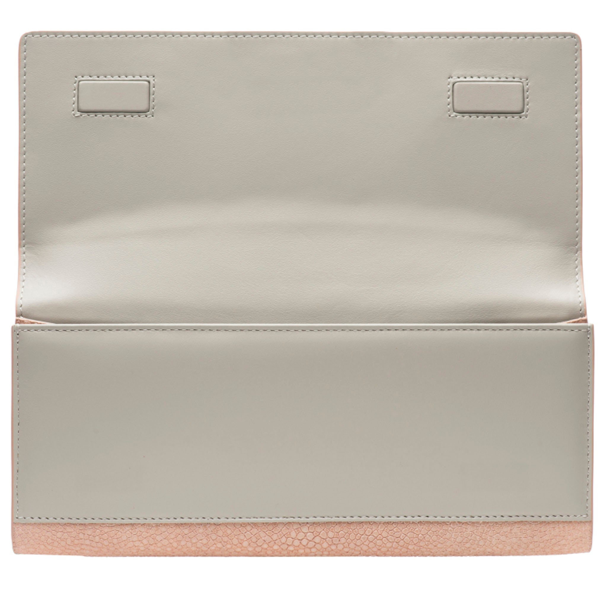Blush Shagreen Clutch Bag Inside View Cleo - Vivo Direct