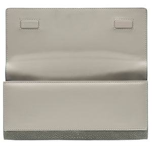 Cement Shagreen Clutch Bag Inside View Cleo - Vivo Direct