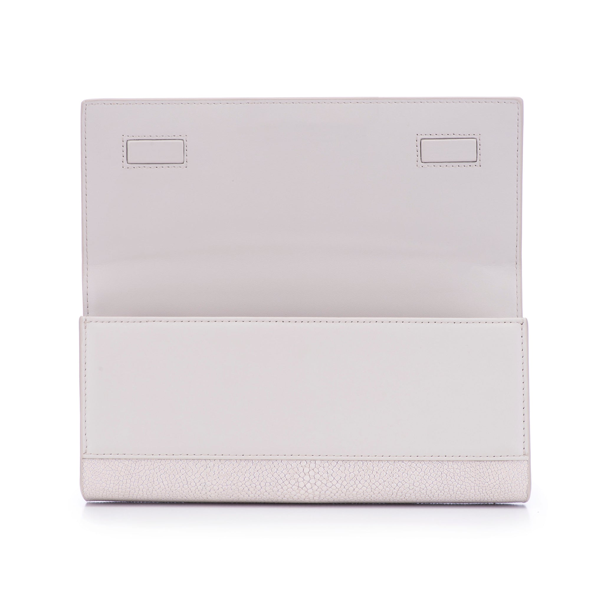 Fog Shagreen Clutch Bag Inside View Cleo - Vivo Direct