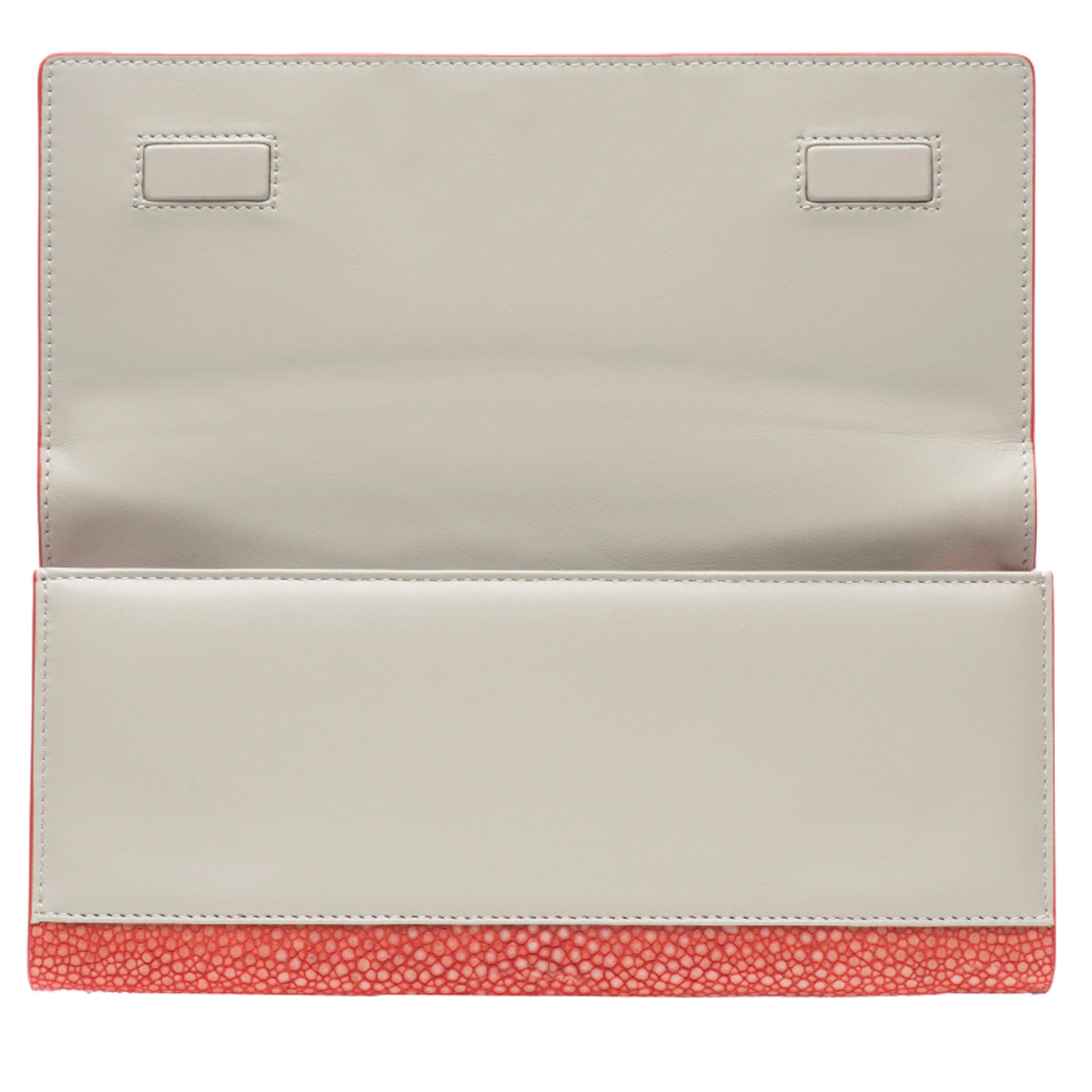 Hibiscus Shagreen Clutch Bag Inside View Cleo - Vivo Direct