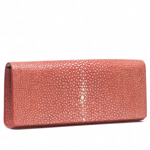 Hibiscus Shagreen Clutch Bag Front View Cleo - Vivo Direct