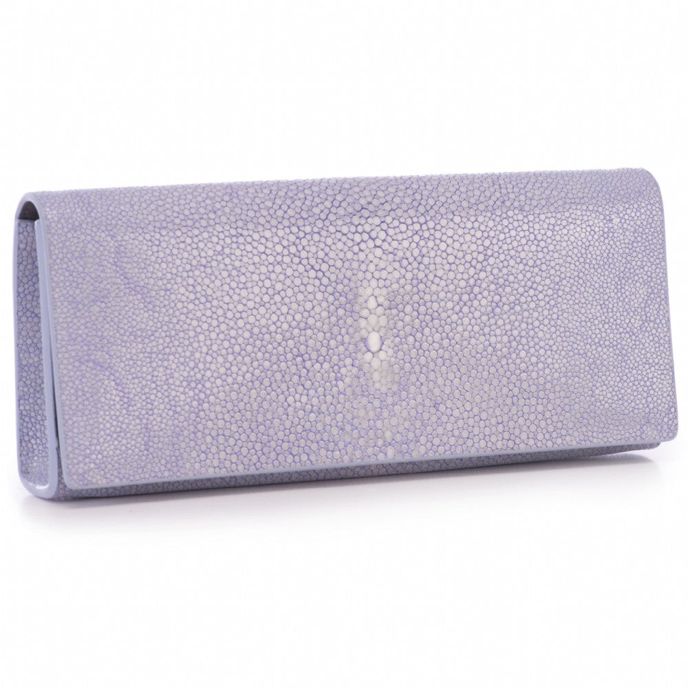 Iris Shagreen Clutch Bag Front View Cleo - Vivo Direct