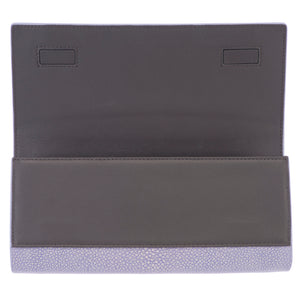 Iris Shagreen Clutch Bag FInside View Cleo - Vivo Direct