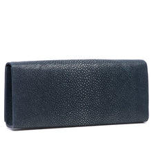 Load image into Gallery viewer, Navy Shagreen Clutch BagBack View Cleo - Vivo Direct