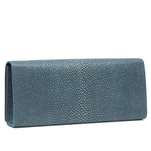 Load image into Gallery viewer, Niagara Shagreen Clutch Bag Back View Cleo - Vivo Direct