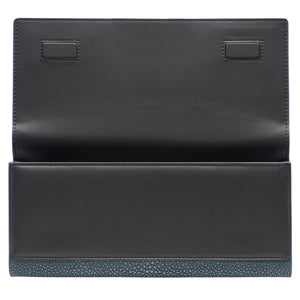 Niagara Shagreen Clutch Bag Front Inside Cleo - Vivo Direct