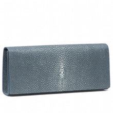 Load image into Gallery viewer, Niagara Shagreen Clutch Bag Front View Cleo - Vivo Direct