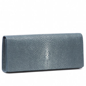 Niagara Shagreen Clutch Bag Front View Cleo - Vivo Direct