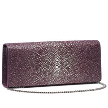 Load image into Gallery viewer, Cleo- Genuine shagreen clutch bag-Plum