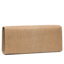 Load image into Gallery viewer, Putty  Shagreen Clutch Bag Back View Cleo - Vivo Direct