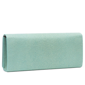 Sky Shagreen Clutch Bag Back View Cleo - Vivo Direct