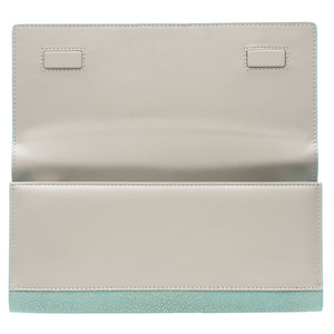 Sky Shagreen Clutch Bag Inside View Cleo - Vivo Direct