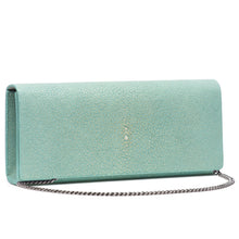 Load image into Gallery viewer, Cleo- Genuine shagreen clutch bag-Sky
