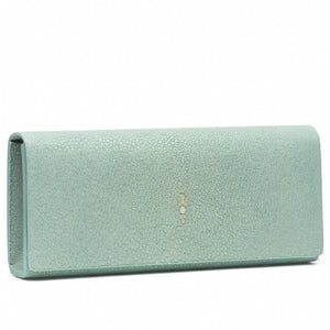 Sky Shagreen Clutch Bag Front View Cleo - Vivo Direct