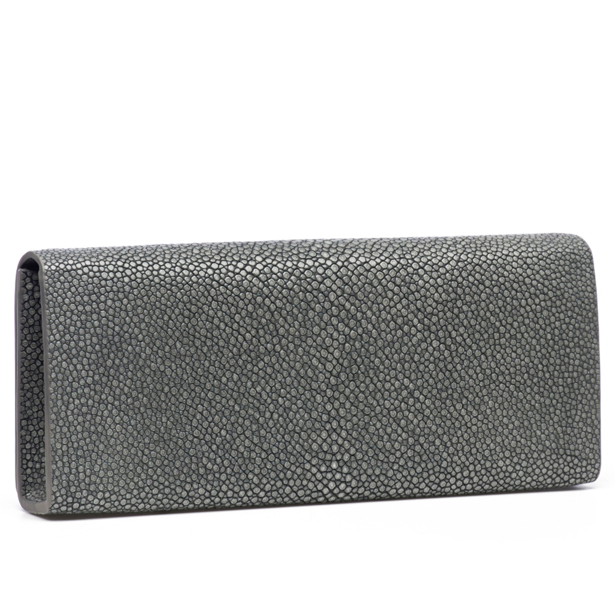 Gray Shagreen Clutch Bag Back View Cleo - Vivo Direct