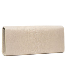 Load image into Gallery viewer, Cleo- Genuine shagreen clutch bag-Wheat