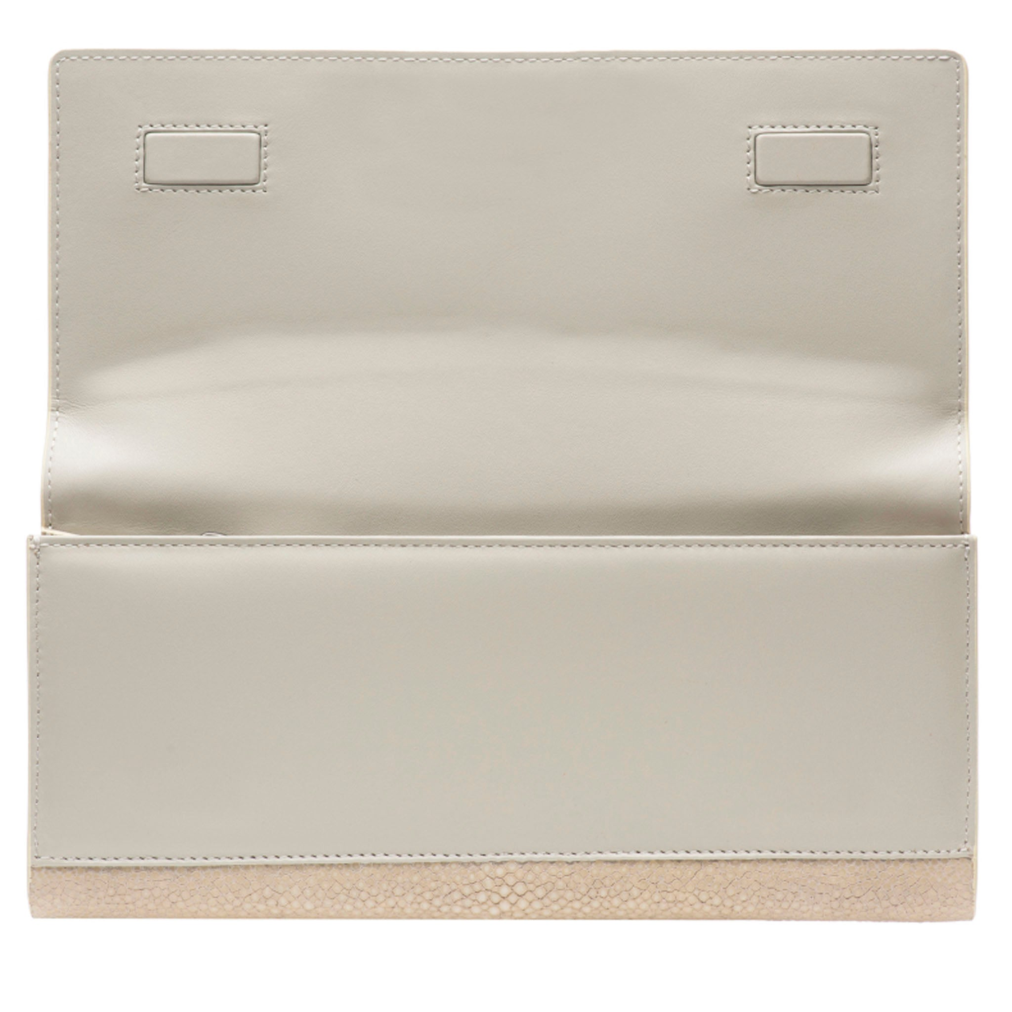 Wheat Color Shagreen Clutch Bag Inside View Cleo - Vivo Direct