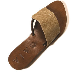 GINGER SHAGREEN SANDAL 41 DOVE