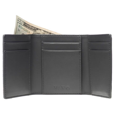 Evan- Men's Tri Fold wallet - Gray