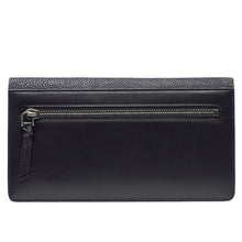 Load image into Gallery viewer, Maya- Shagreen and Napa leather zip back wallet or clutch-Black