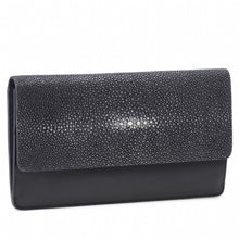 Load image into Gallery viewer, Maya Shagreen Fold Front Wallet Or Clutch