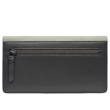 Load image into Gallery viewer, Maya- Shagreen and Napa leather zip back wallet or clutch-Cement
