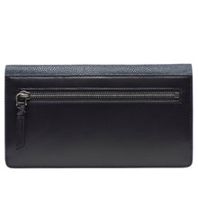 Load image into Gallery viewer, Maya- Shagreen and Napa leather zip back wallet or clutch-Navy