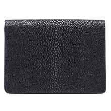 Load image into Gallery viewer, Taylor-Shagreen and Napa leather card case-Black
