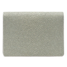 Load image into Gallery viewer, Taylor-Shagreen and Napa leather card case-Cement