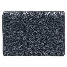 Load image into Gallery viewer, Taylor-Shagreen and Napa leather card case-Navy