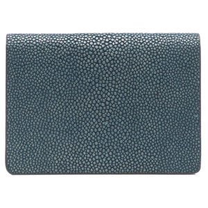Taylor-Shagreen and Napa leather card case-Niagara