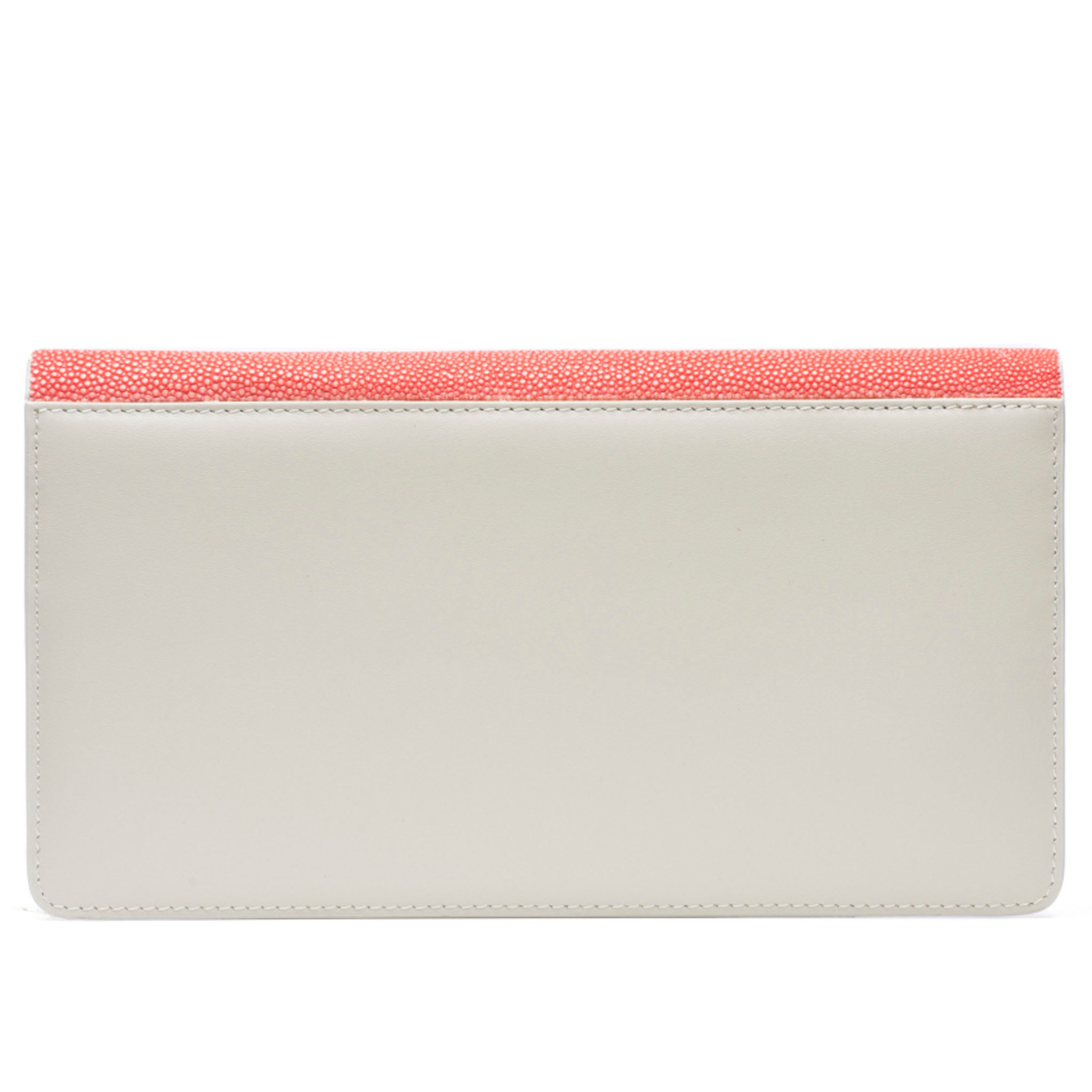 Hibiscus Shagreen Fold Front Wallet Clutch  Back View Bea II -Vivo Direct