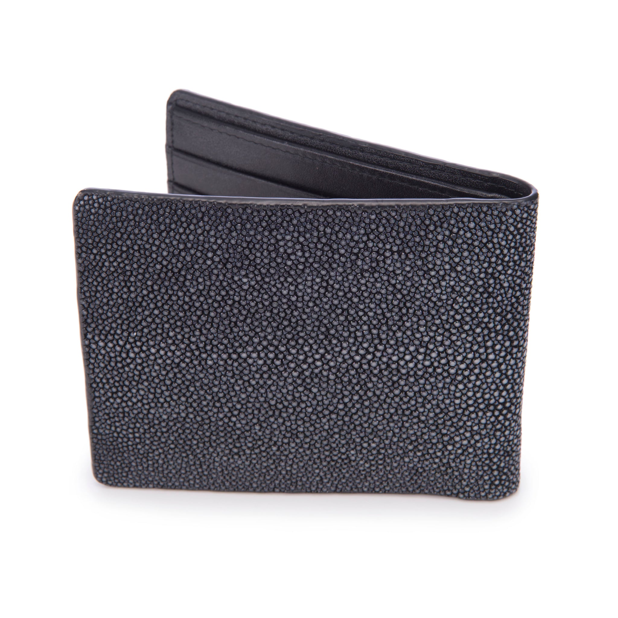 Shagreen Men's Billfold Black Back View Eric -Vivo Direct
