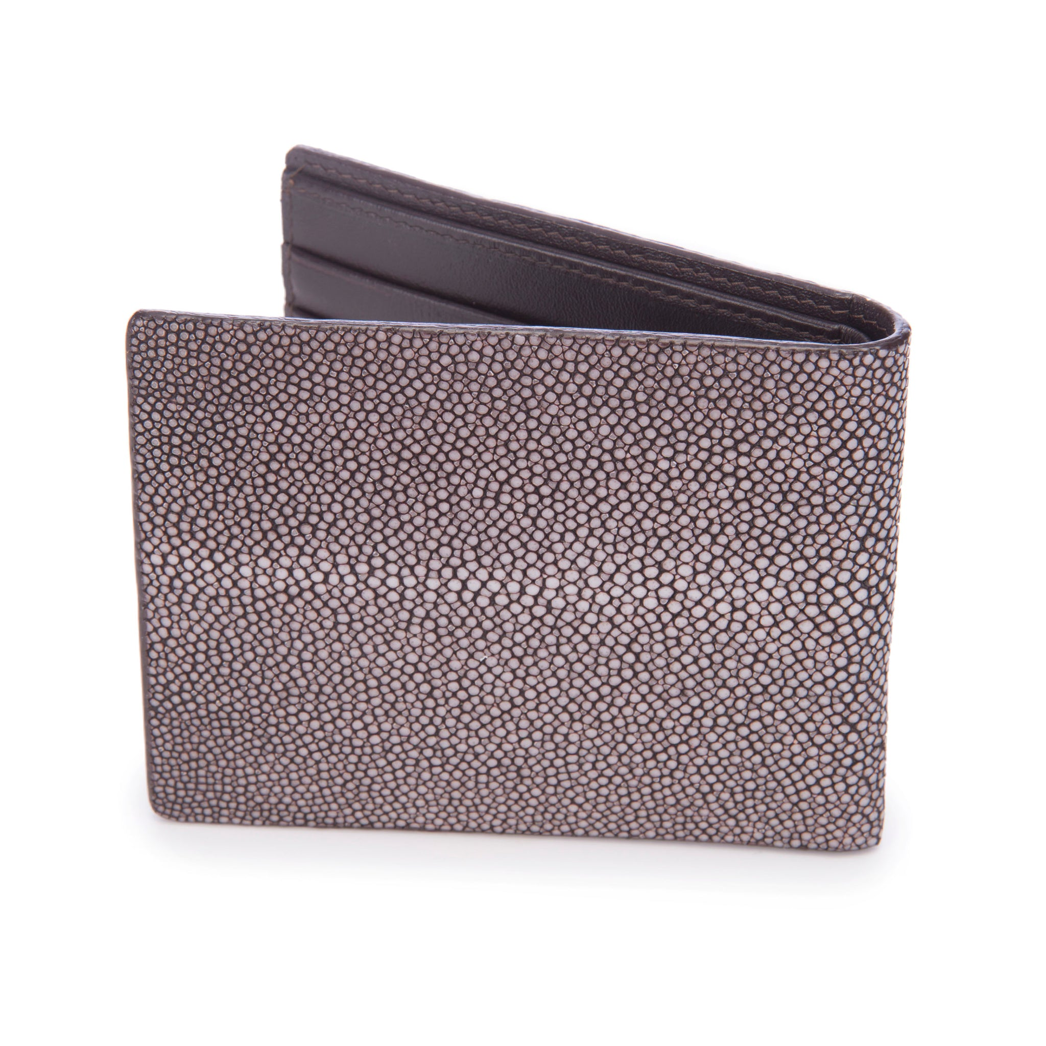 Shagreen Men's Billfold Coffee Back View Eric -Vivo Direct