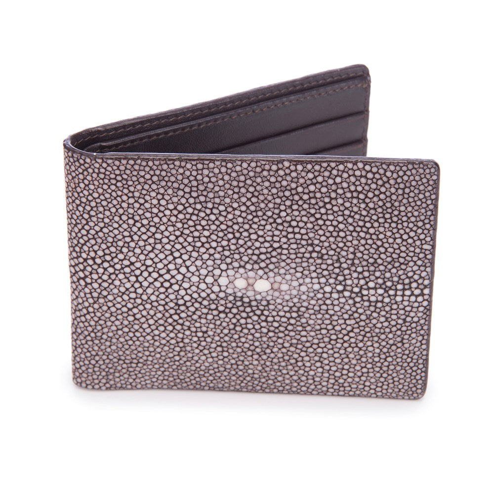 Shagreen Men's Billfold Coffee Front View Eric -Vivo Direct