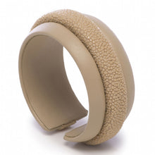 Load image into Gallery viewer, Shagreen Raised Center Cuff