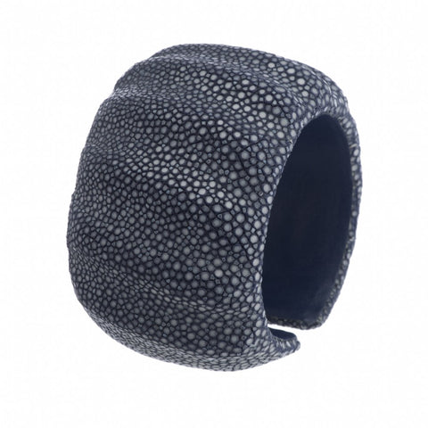 Dimensional Shagreen Cuff - Ink