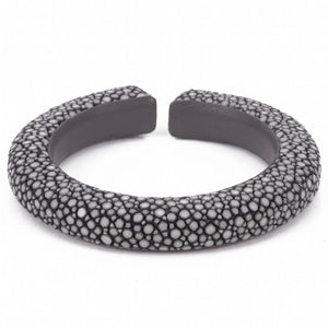 Narrow flexible shagreen cuff-Gray
