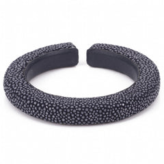 Narrow flexible shagreen cuff-Ink
