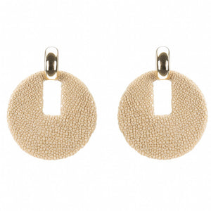 Shagreen Disk  With Gold Cap
