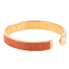 Load image into Gallery viewer, CORFU Hinged enamel bangle, inlay