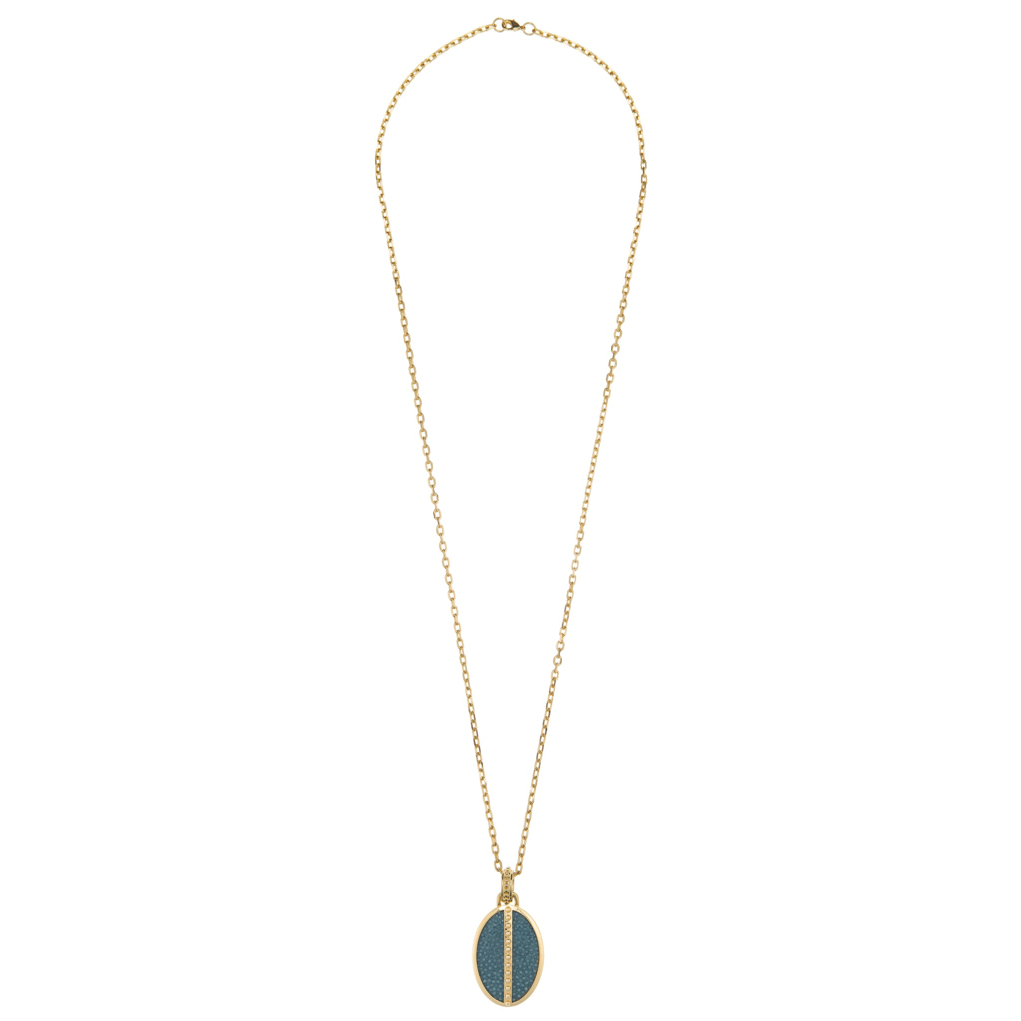 Ava Pendant 18 K Yellow  Gold With Shagreen Inlay