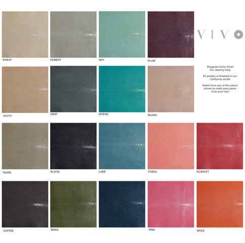 Shagreen Leather Color Chart