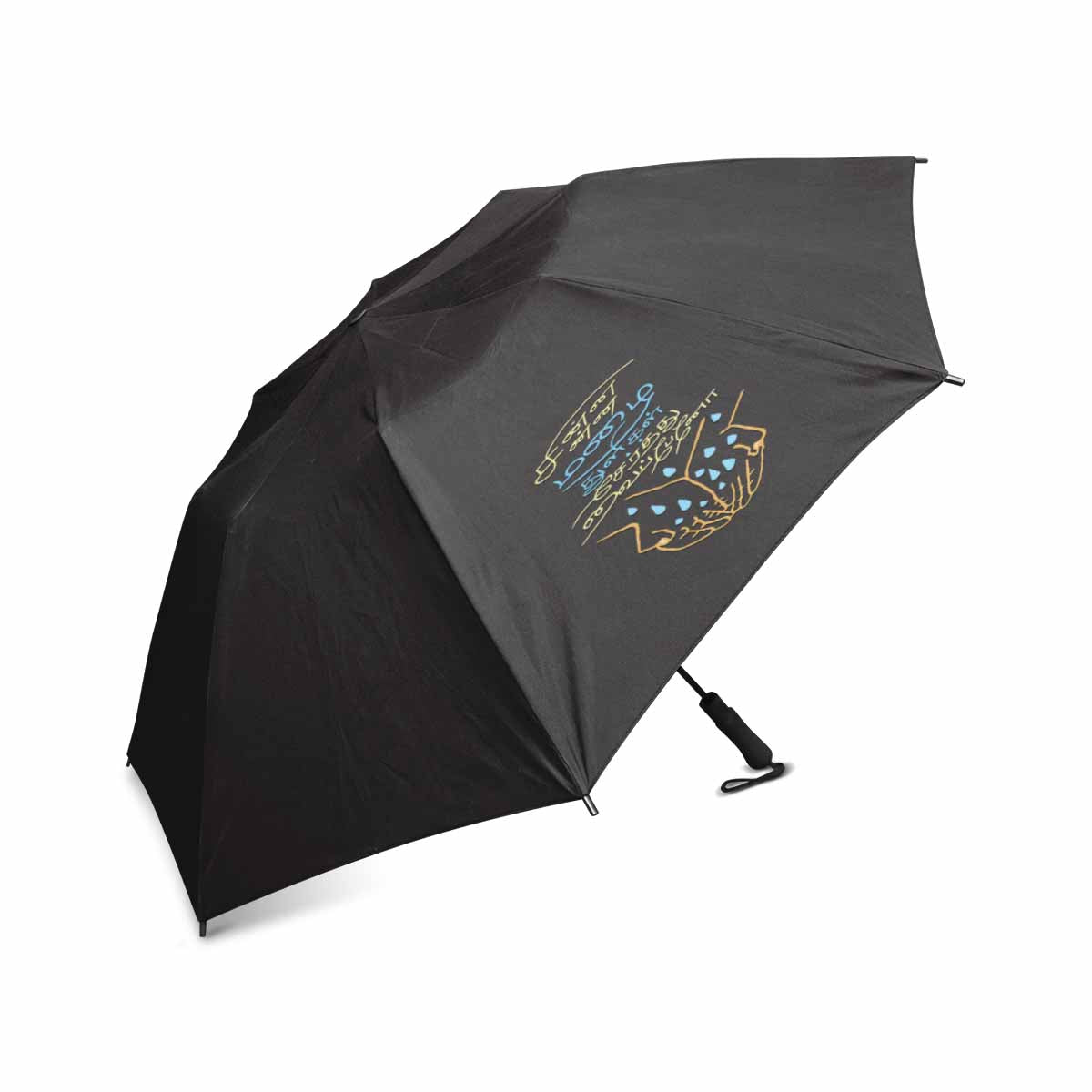 Black Thamizh semi automatic foldable umbrella 42 inch Chinna Chinna Mazhaithuligal Serthuvaipaeno gift idea for friends and family