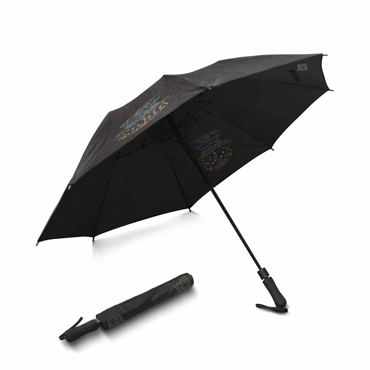 "Chinna Chinna Mazhaithuligal Serthuvaipaeno 42"" Semi-Automatic Foldable Umbrella"