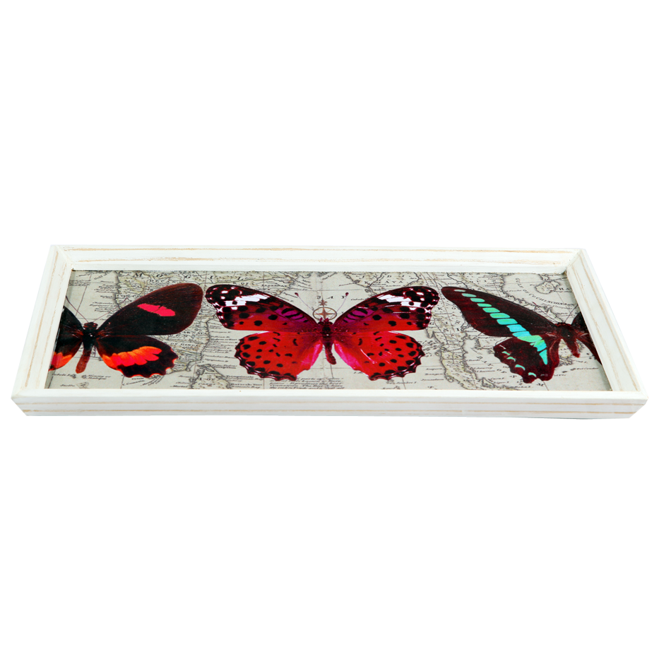 VINTAGE BUTTERFLY TRAY