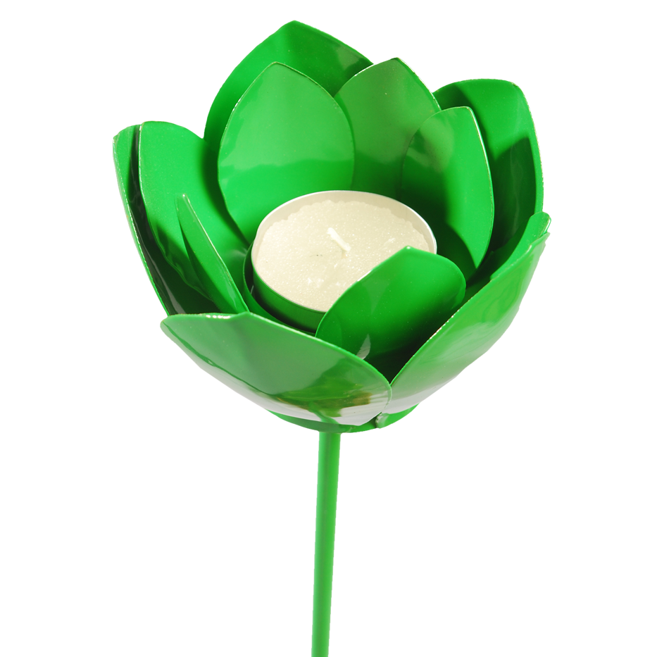 GREEN LOTUS CANDLESTICK